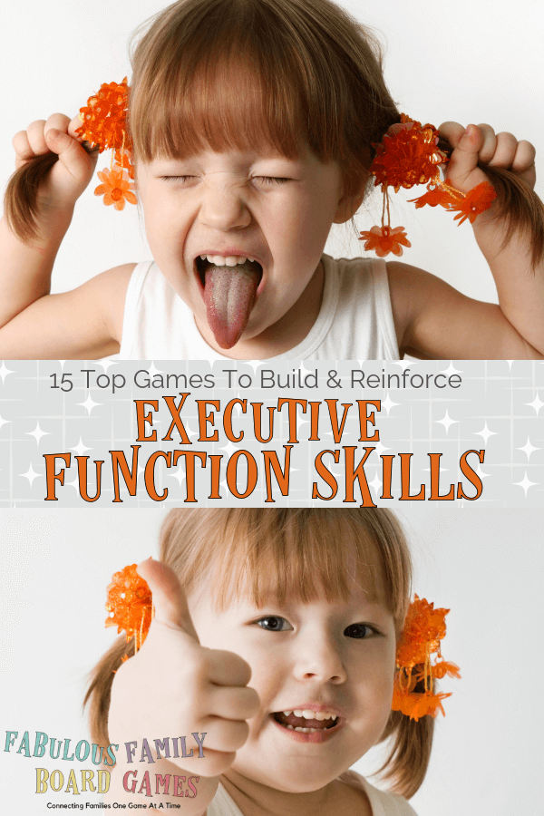 It's true. We aren't born with executive functioning skills? There are strategies, activities, games, and tools that parents can use at home to help our kiddos with the symptoms of low executive functioning - such as poor impulse control, planning, time management, or working memory. Here is executive function explained with helpful resources including games, explanations, and books. #executivefunction #games #boardgames #learning #positiveparenting www.fabulousfamilyboardgames.com