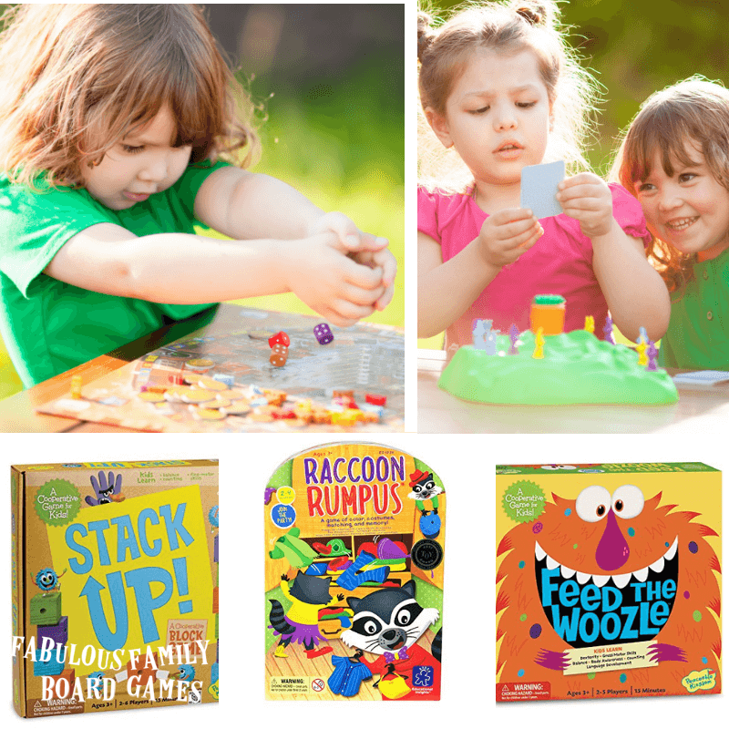 This is the ultimate list of top board games for kids five and under. The ideas that make the best board games for preschoolers allow a child to develop essential skills and knowledge while having a terrific time playing! Each one of these games does that! #topboardgames #boardgamesforkids #bestboardgames #familyboardgames www.fabulousfamilyboardgames.com