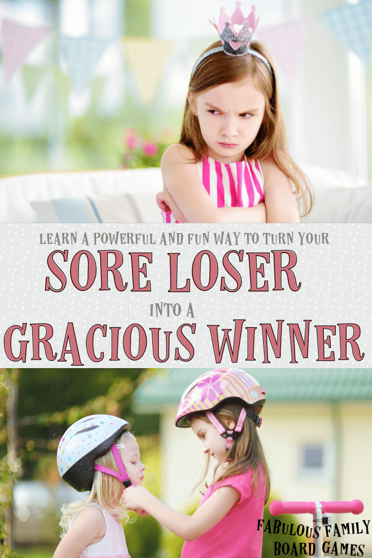 """Nobody wants to raise a kid who's a sore loser. But both winning and losing can be tough for children to handle graciously - especially in today's competitive, me-me-me environment. I love these ideas about using family board games to tell your kids, """"Don't be a sore loser!"""" #soreloser #graciouswinner www.fabulousfamilyboardgames.com"""