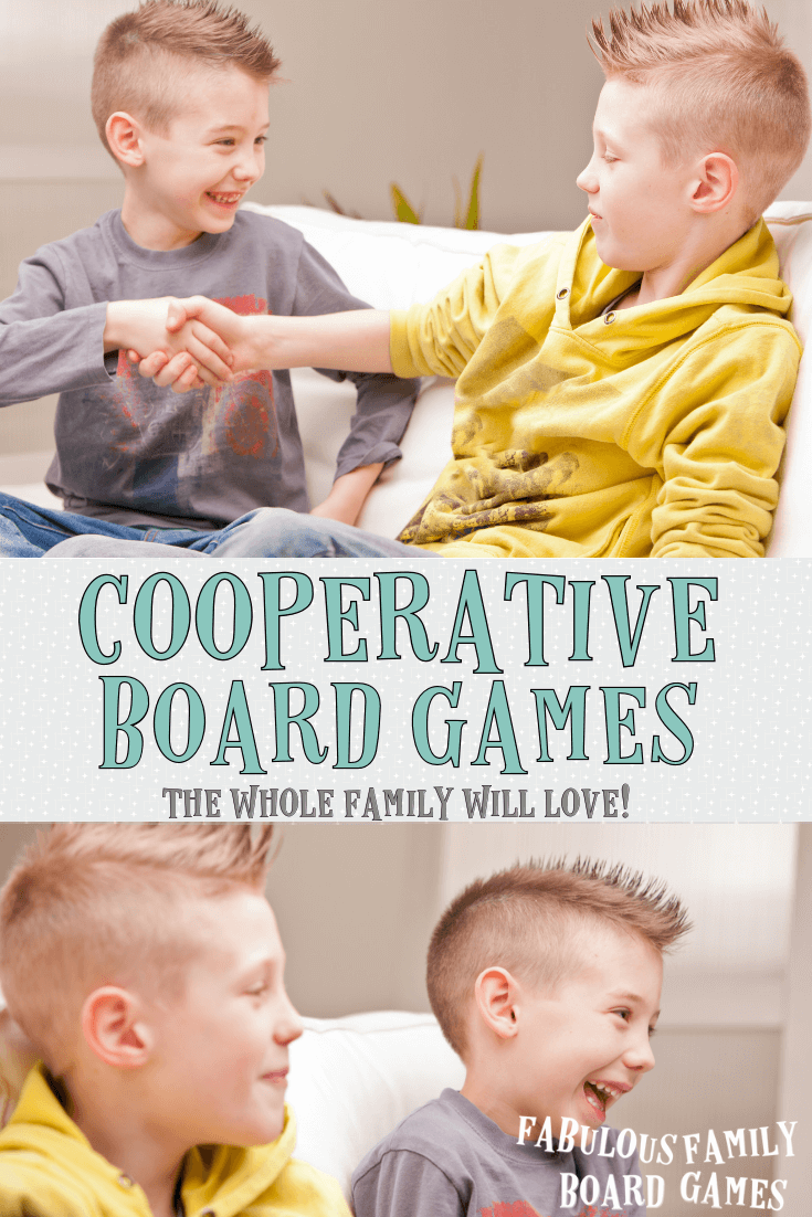 Cooperative board games aren't just for quiet, shy types! These games have taken off and the selection of compelling family board games that you won't want to stop playing is amazing! This is the best list of cooperative board games for kids and family that you'll find anywhere. #cooperativeboardgames #boardgames #cooperativegames #familyboardgames www.fabulousfamilyboardgames.com